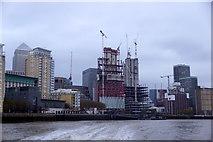 TQ3680 : Canary Wharf Pier by Mike Pennington