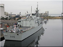 NT2677 : 'HMCS Montréal' at Leith by M J Richardson