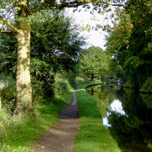 Canal south of Great Haywood in Staffordshire