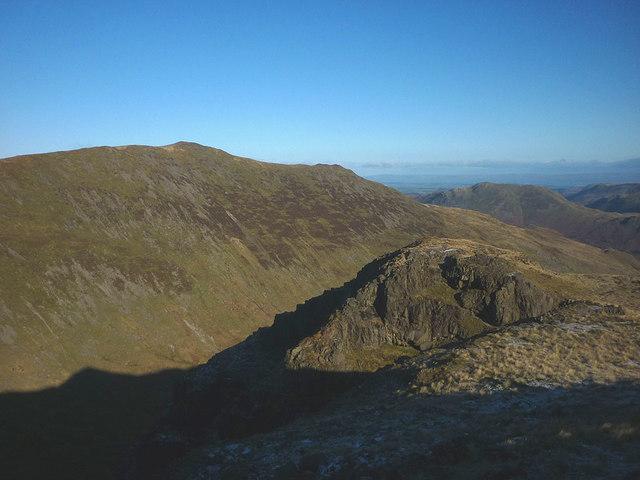 The top of Hutaple Crag