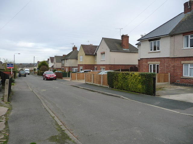 Houses on the east side of Milton Avenue, Alfreton