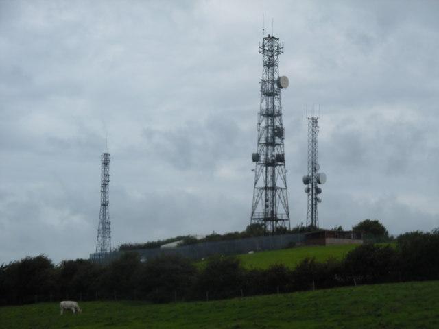 Three Radio Masts at Langthwaite