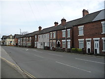 SK4547 : Houses on the south side of Station Road, Langley Mill by Christine Johnstone