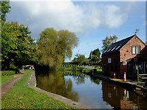 SJ9922 : Trent and Mersey Canal by Great Haywood in Staffordshire by Roger  Kidd