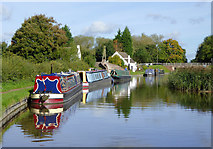 SJ9922 : Canal at Great Haywood Junction, Staffordshire by Roger  Kidd