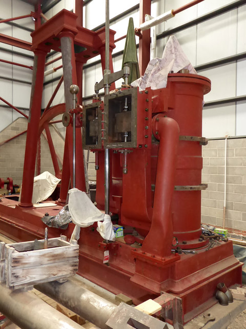 Markham Grange Steam Museum - beam engine restoration