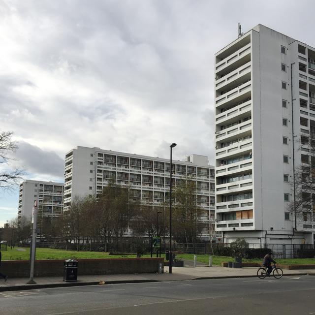 High-rise blocks, Loughborough Estate, Camberwell, south London
