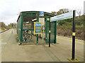 SJ3298 : Waterloo station - cycle rack by Stephen Craven