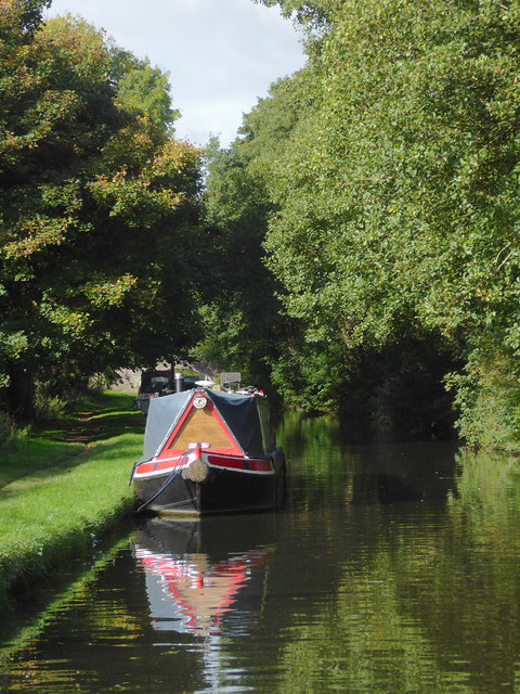 Canal west of Great Haywood in Staffordshire