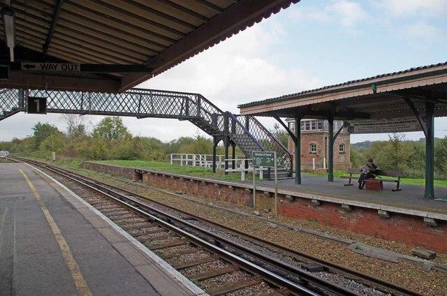 The Platform at Brading Station