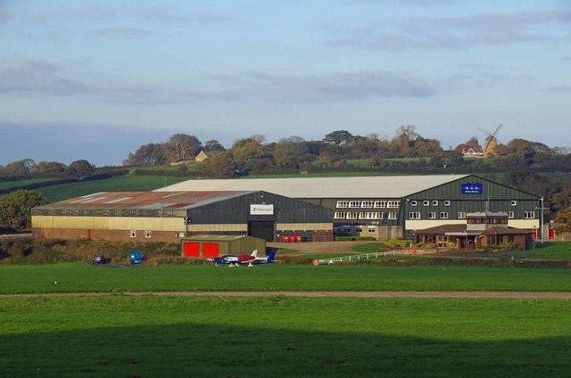 Across Bembridge Aerodrome