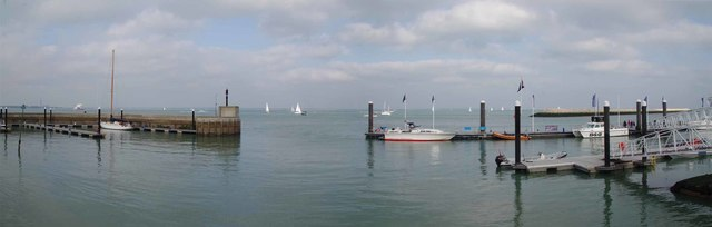 Cowes Harbour Panorama