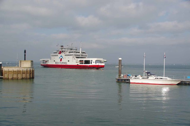Red Funnel Approaching Cowes Harbour