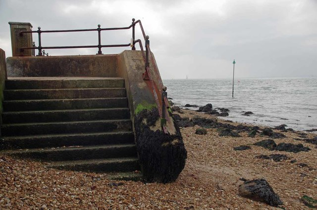 Steps to Gurnard Beach