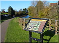 SK5937 : Information board along the Grantham Canal by Mat Fascione