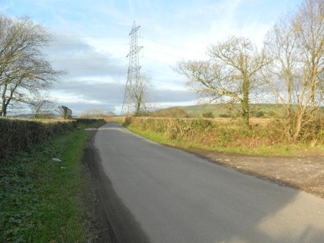 Pylon beside the road from Llantrisant toTonyrefail