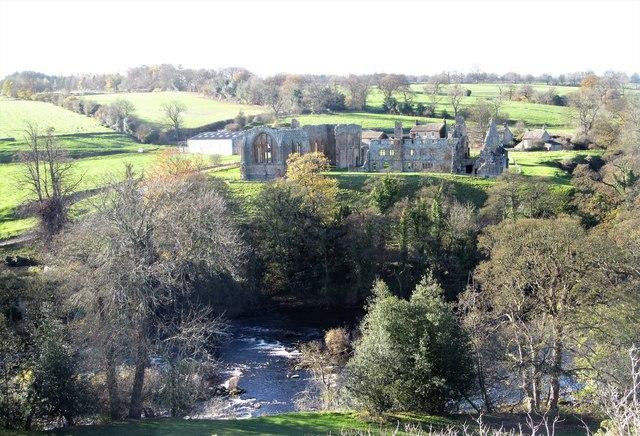 Across the Tees to Egglestone Abbey