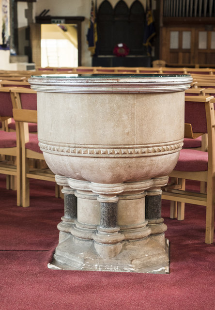 All Saints, Woodford Wells - Font