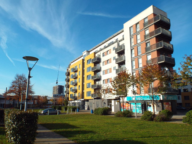 New housing on Tarves Way, Greenwich