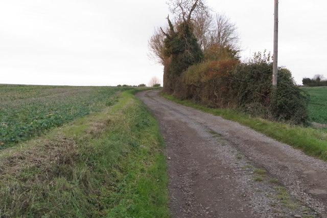 Track to Hill Barn Farm