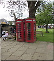 SP0937 : Two Grade II listed red phoneboxes, High Street, Broadway by Jaggery