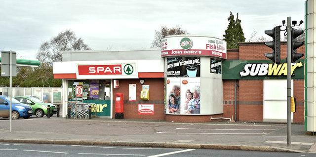 Spar and BP, Ballyhackamore, Belfast (November 2017)