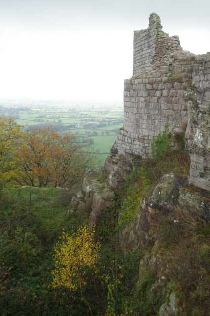 Inner ditch: Beeston Castle