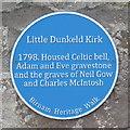 NO0242 : Plaque at Little Dunkeld Kirk by M J Richardson