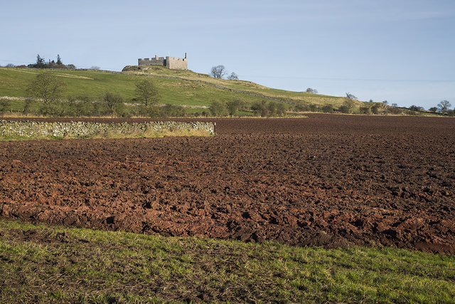 A ploughed field at Homebyres