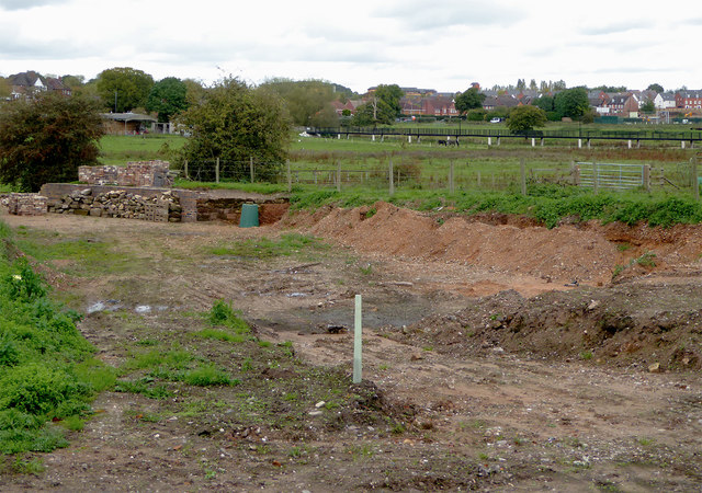 Riverway Link excavations north of Baswich, Stafford