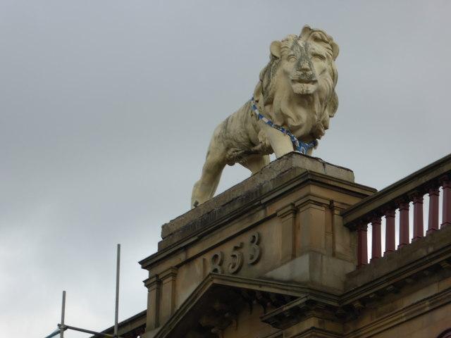 Fibreglass lion