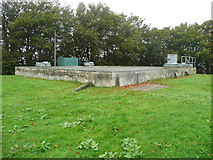 NX4355 : Covered reservoir next to the Martyrs' Monument, Wigtown by Humphrey Bolton
