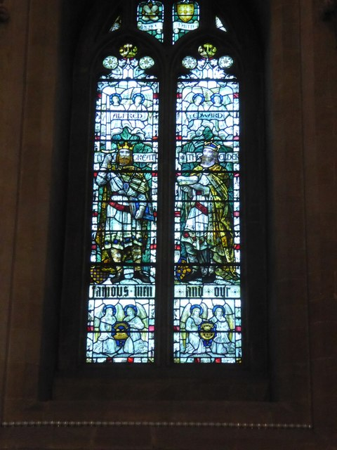 Ancient kings in a window, Wells Cathedral
