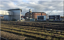 SK3635 : A view northeast from platform 6A, Derby station by Robin Stott
