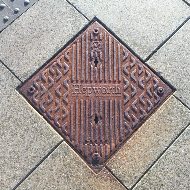 Inspection cover, platform 6A, Derby station