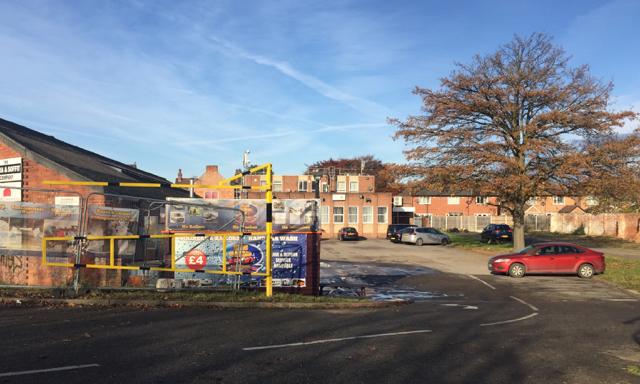Parking behind premises in Fields Farm Road, Long Eaton