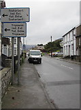 SS9497 : Industrial estates direction signs, Ynyswen by Jaggery