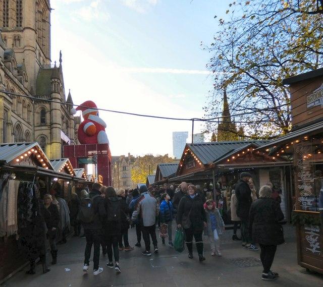 Christmas Market in Albert Square.