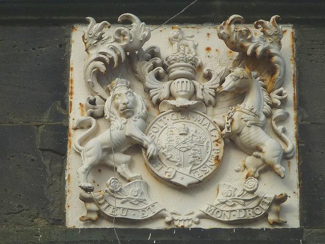 Royal coat of arms, Fort Perch Rock