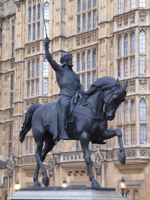 Statue of Richard I at Westminster