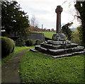 SO3727 : Grade II listed churchyard cross, Rowlestone by Jaggery