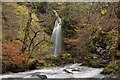 NC8301 : Small Waterfall in the Big Burn, Golspie, Sutherland by Andrew Tryon