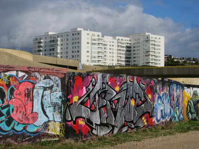 Graffiti near Madeira Drive