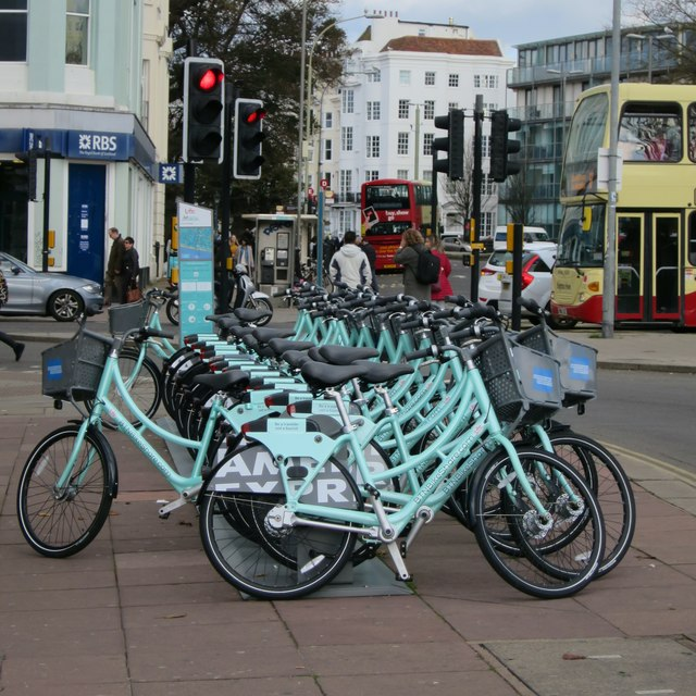 Bike hire stand, Marlborough Place