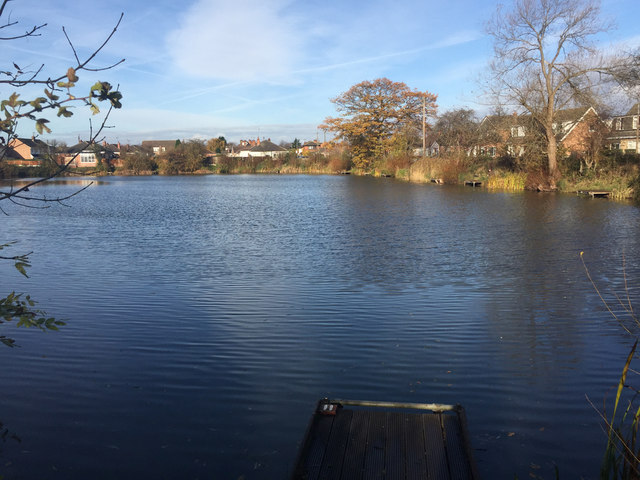Looking northwest across Barker's Pond, Long Eaton