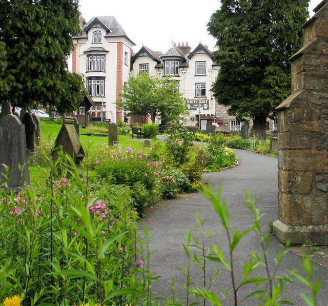 Tarmacked path past Church of St Andrew