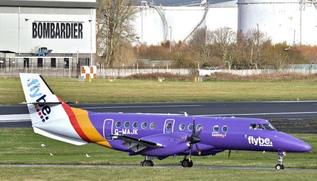 G-MAJK (purple livery), Belfast City Airport (November 2017)