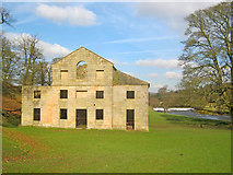 SK2568 : Disused mill near Calton Lees by Trevor Rickard