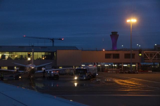 Edinburgh Airport at dusk