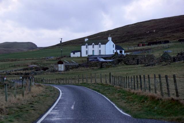 House at Spiggie, beside Loch of Spiggie